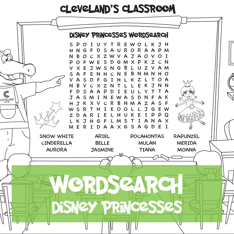 Disney Princesses Wordsearch